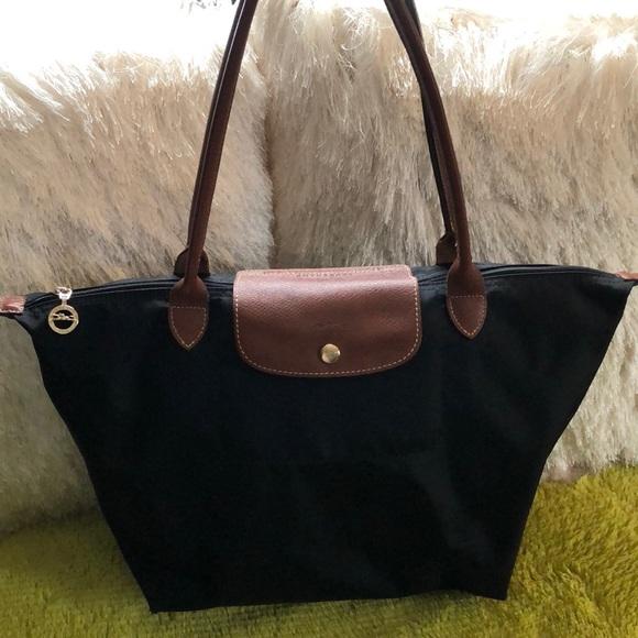 40d854a324 Longchamp Handbags - LONGCHAMP LE PLIAGE NYLON LEATHER TOTE BAG LARGE